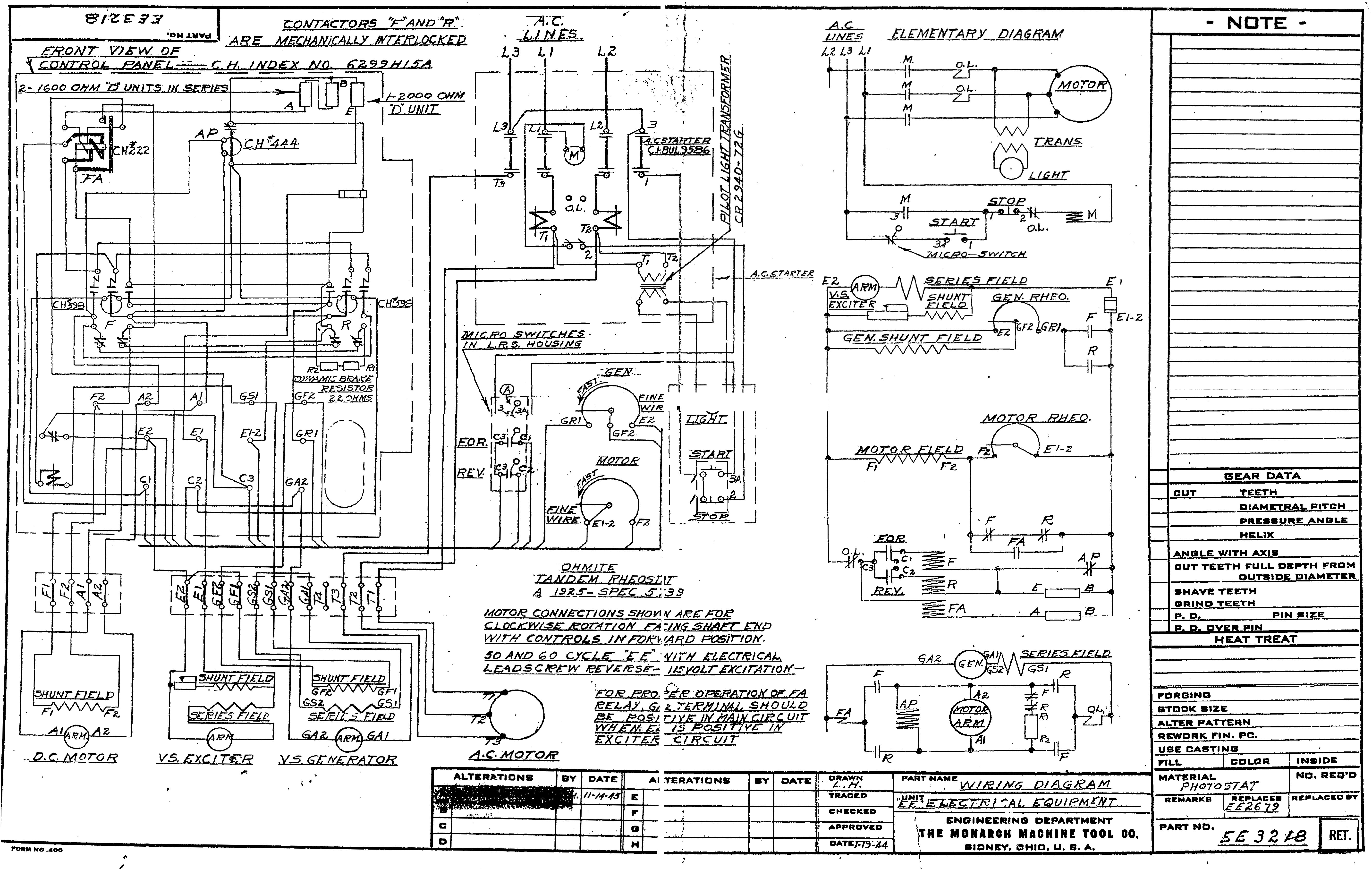 Lathe Motor Wiring Diagram : Monarch lathe wiring diagram images